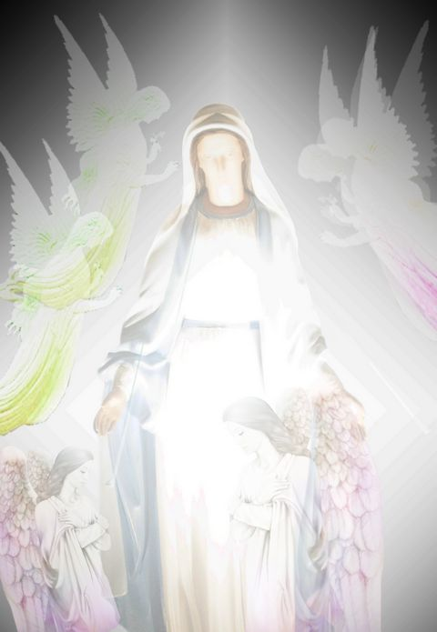 Blessed Mary with Angels