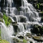 Waterfalls at Big Cedar Lodge in Branson, Missouri