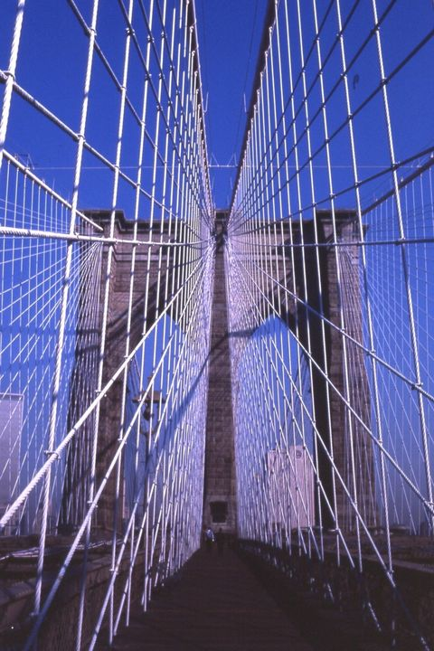 Brooklyn Bridge cables, New York City