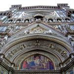 Façade of the Duomo in Florence, Italy