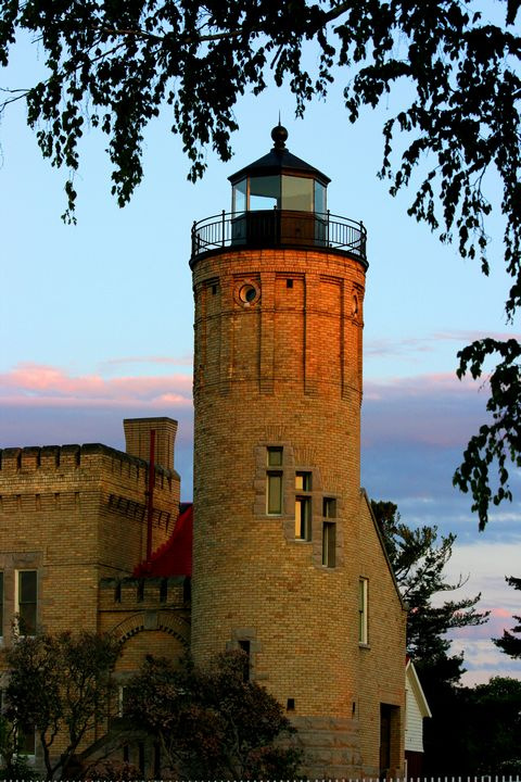 Lighthouse in Mackinaw City, Michigan.