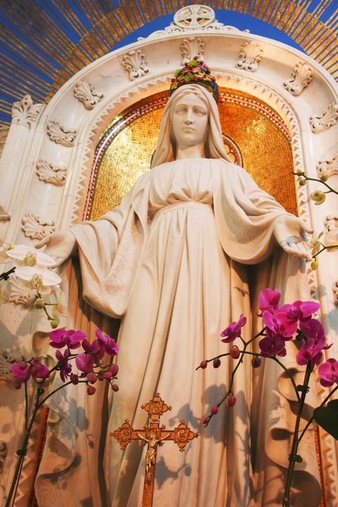 Statue of Virgin Mary at the National Shrine of the Miraculous Medal in Perryville, MO