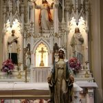statues in church in Glasgow, Missouri