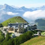 Basilica built high in French Alps on location of La Salette appearances of Virgin in 1846