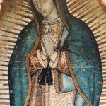 Our Lady of Guadalupe miraculous image formed on cactus cloth (1531) like a photo lying on top of the threads!