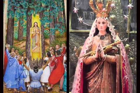 Our Lady of Ocotlan, Mexico 1541: statue of Mary miraculously discovered inside an Ocote tree near Tlaxcala.