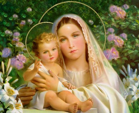 Blessed Mary with Jesus