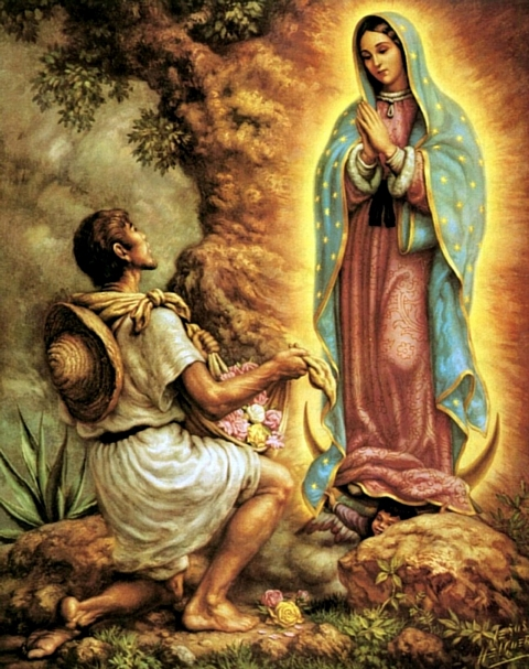 Virgin Mary appears to Juan Diego