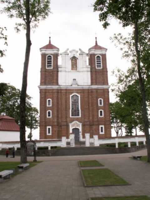 The basilica in Siluva, Lithuania.
