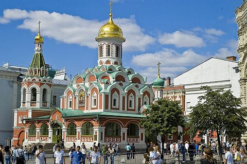 The church in Kazan, Russia