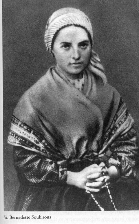 Bernadette Soubirous, 14-year old visionary of Lourdes, France.