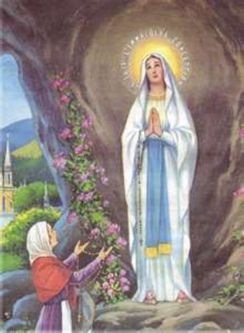 Bernadette continues to meet with Blessed Mary for 15 days in a row.