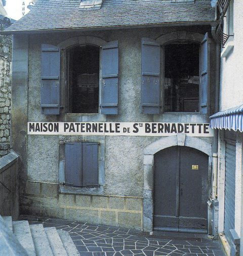 The original home of Bernadette Soubirous in Lourdes.