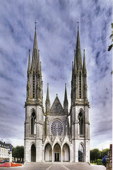 Today this grand basilica honors the apparition of Pontmain, France.