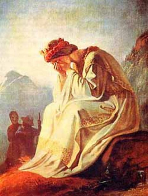 A weeping Virgin Mary draws their attention high in the Alps.