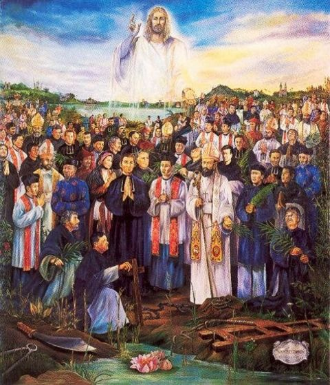More than 100,000 martyrs for the Catholic faith in Vietnam 1640-1798.