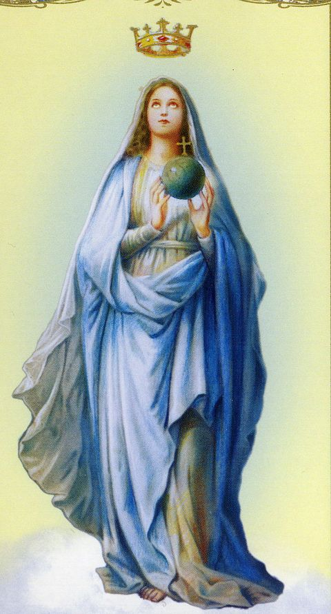 The first image that the Virgin Mary wanted Catherine to remember.