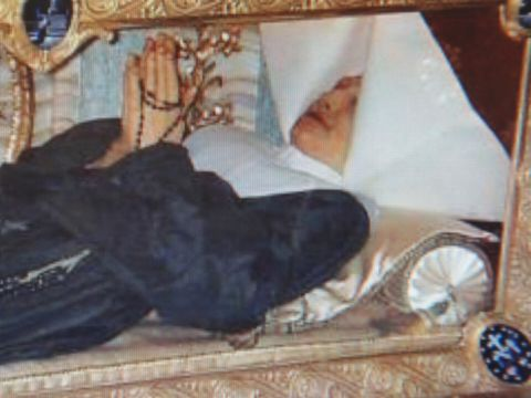The incorrupt (non-decaying) body of Catherine Laboure in Paris, France.