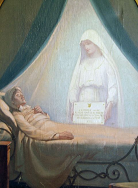 he Blessed Virgin appears at the bedside of dying Estelle.