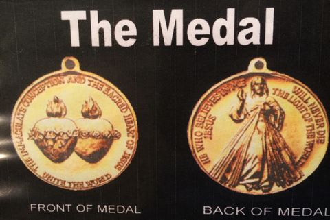 The medal requested by the Virgin Mary to be struck in Australia.