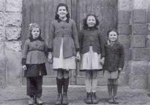 The four young female visionaries of L'Ile Bouchard, France in 1947