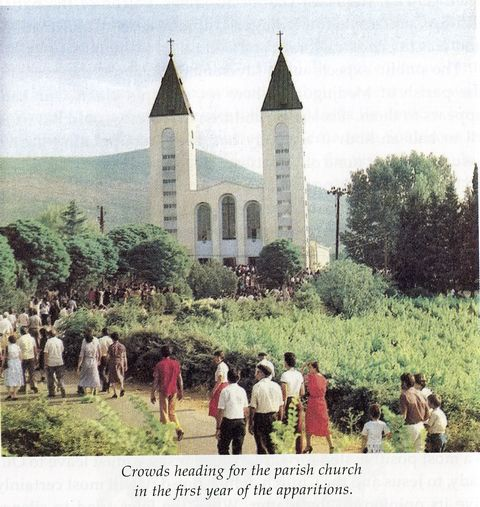 Attendance peaks at the St. James parish in Medjugorje.