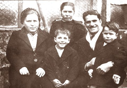 Bruno Cornacchiola and his family