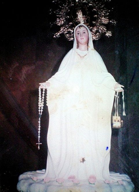 The statue of the Virgin Mary in Agoo, Philippines