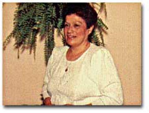The visionary, Gladys Quiroga de Motta, in San Nicolas, Argentina