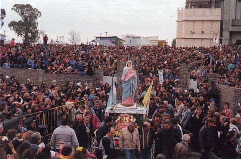 A large celebration honoring the apparitions in Argentina