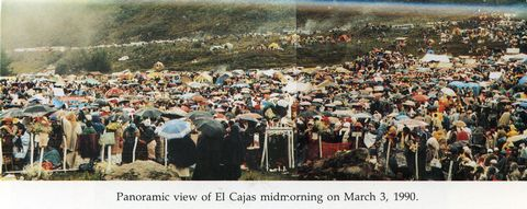 The huge crowd for the final apparition in March of 1990.