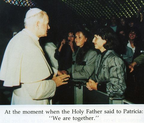 Patricia is granted an audience with Pope John Paul II