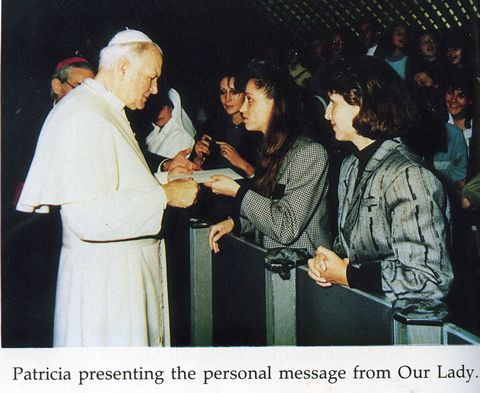 Patricia shares the Virgin's personal message for Pope John Paul II