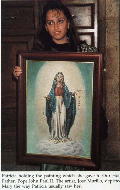 Patricia with her perception of how Our Lady appeared