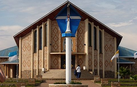The shrine in Rwanda for Our Lady of Kibeho.