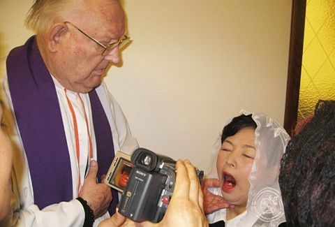 Religious officials film and document these miracles.