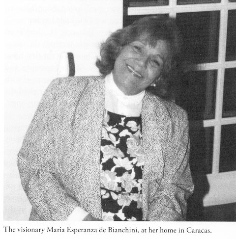 The visionary, Maria Esperanza, with life-long encounters.