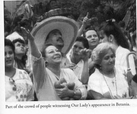 Everyone is able to see the Virgin Mary at the picnic in 1984.