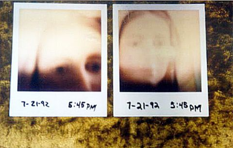 Original polaroid prints of Mary's image in the field