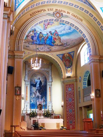 Inside the beautiful St. Mary of the Barrens parish