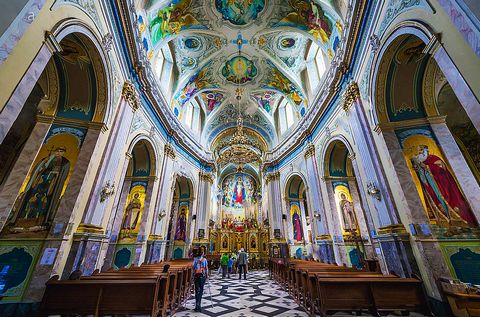 Inside the Cathedral of the Immaculate Conception