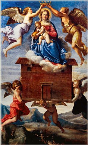 picture #1: Angels lift Mary's childhood home high into the air