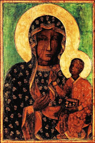"""The Black Madonna"" -- blackened by candles"