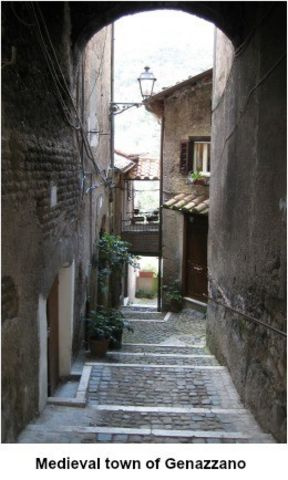 picture #4: The old city of Genazzano where the picture flew