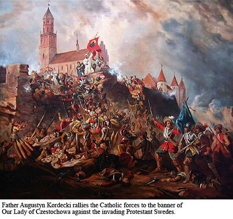 The massive Protestant army from Sweden attacks