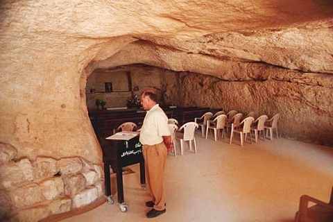 picture #1: This cave became the site of apparitions in Lebanon.