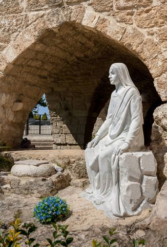 picture #5: Blessed Mary at opening to cave.
