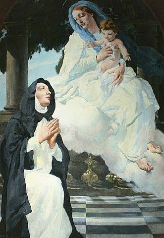 picture #1: St. Bridget receives visits from the Virgin Mary