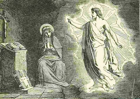 picture #6: Jesus comes to St. Bridget in many visions
