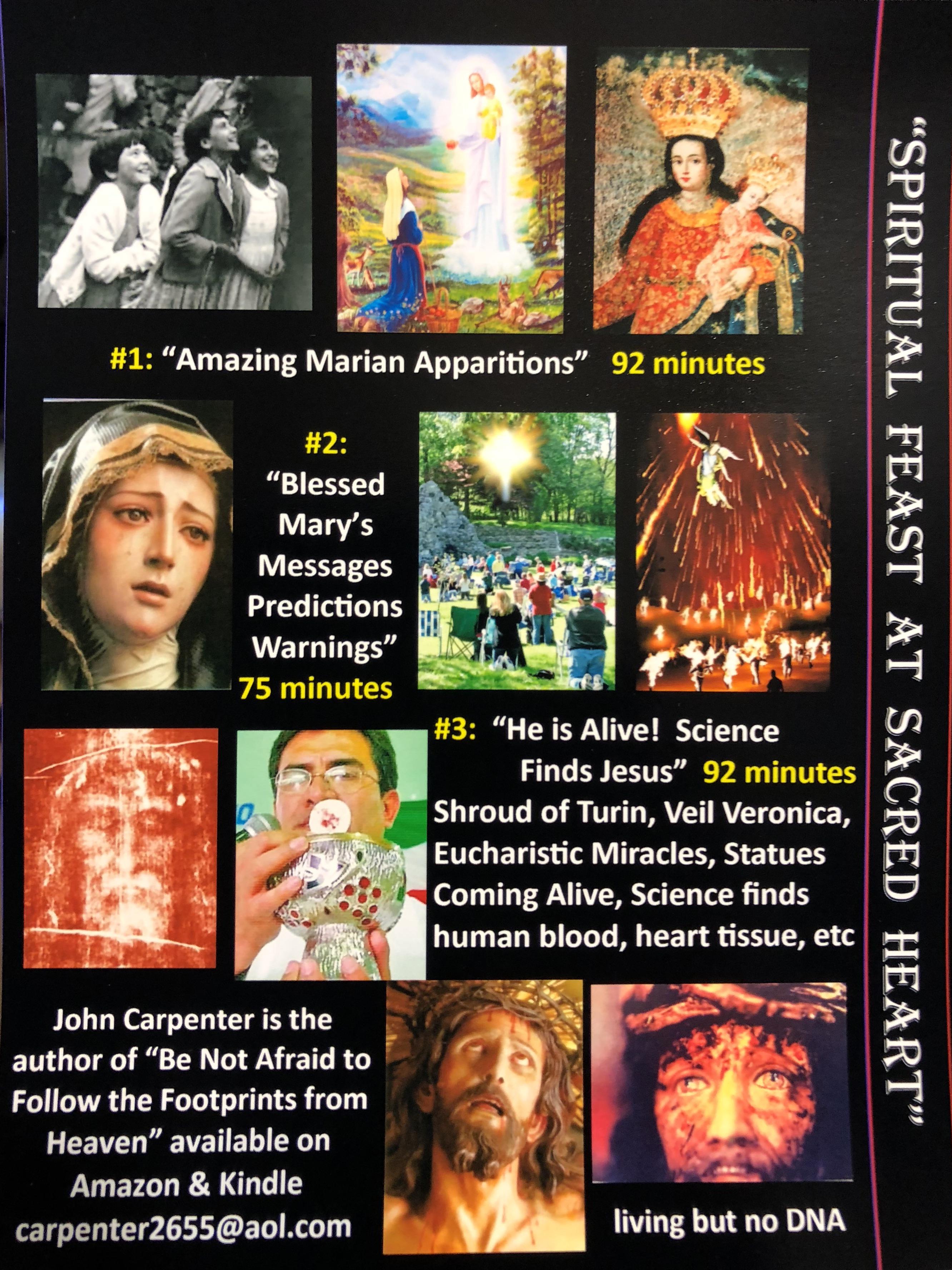 Spiritual Feast DVD Back Cover